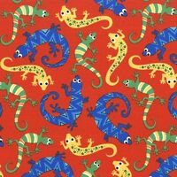 Scaly Orange Lizards Michael Miller Fabric FQ + More 100% Cotton