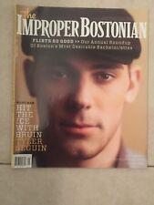 Rare Tyler Sequin The Improper Bostonian Magazine 2013 Boston Bruins Hot
