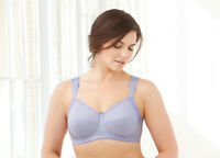 NEW Bra msrp $50 X-WIDE SEAMLESS STRAPS (Side Support) COMFY~COTTON~BLEND Purple