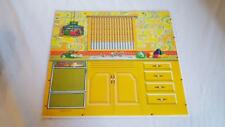 1970 Barbie Lively Livin House Replacement Part Wall, Cabinets, Water Fountain
