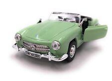Mercedes Benz Coche a Escala con Wunschkennzeichen 190 Sl Oldtimer Verde Cabrio
