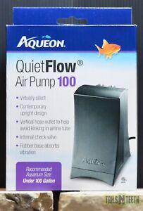 QuietFlow Air Pump 100 for Aquariums Under 100 US Gallons - Virtually Silent
