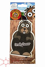 Smelly Beaver Car Air Freshener Blueberry ~ Magic Tree Scents Car Home Office