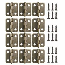 Ancirs 18 mm in ottone anticato mini cerniere 12-pack bronzo con viti (o2Z)