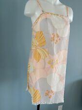 Vintage 70s Slip Dress Floral Print Groovy Mod Boho Nightie Chemise Lingerie