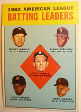 1963 Topps # 2 MICKEY MANTLE Yankees EX NM 52 yrold AL BAT Leaders Baseball Card