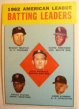 1963 Topps # 2 MICKEY MANTLE Yankees EX NM 52 yrold AL BAT Leaders Baseball Card