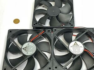 3 x GDSTIME 5V 2Pin 12cm 120mm x 25mm GDA 1225 Axial Exhaust Cooling Fan G16