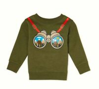 Gray Camping Binoculars Intarsia Sweater Details about  /GAP Baby Boys Size 3-6 Months Blue
