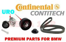 ContiTech Drive Belt / URO Pulley + Tensioner Kit For BMW 2006-2013 6 Cyl