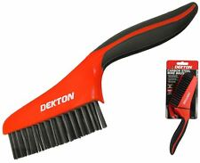 Dekton Soft Grip Carbon Metal Steel Wire Brush Ideal for Rust Paint Removal