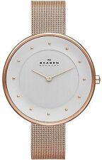 Women's Rose Gold Skagen Gitte Oversized Mesh Watch SKW2142