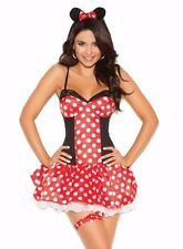 Minnie Mouse Sexy Costume Small S Women Adult Cosplay Halloween Polka Dot Disney
