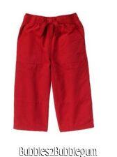 Gymboree Alpine Patrol Red Pants New NWT Boys 10 athletic felt pockets