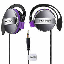 Rockpapa on Ear Stereo Kids Childs Girls Earphones Headphones 3.5mm Black Purple