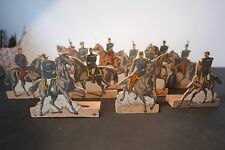 LOT DE 12 SOLDATS EN BOIS- OFFICIERS MONTÉS SECOND EMPIRE - JOUET ANCIEN OLD TOY