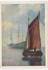 CP ART  TABLEAU VAN DE VELDE Le bateau à voiles