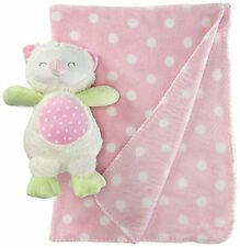 Stephan Baby Owl Polka Dot Plush Blanket and 9 Plush Owl Gift Set