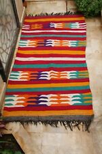 Old Vintage Moroccan Rug Authentic Handmade Berber Tribal Azilal wool Carpet