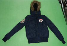 Paul's Boutique navy blue warm hooded puffa jacket coat for girl size S