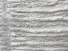 """2 Yards Chenille Striped Fabric Solid White from Joann 60"""" wide Cuddly Soft"""
