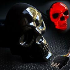 "Skull Hitch Cover Black 6529 LED Tow Hitch Light Cover Fits 2"" &  1-1/4"" Both"
