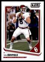 2018 SCORE BAKER MAYFIELD RC OKLAHOMA SOONERS #351