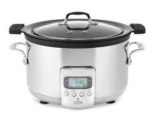 All-Clad SD712D51 Deluxe Slow Cooker with Black Cast-Aluminum Insert 4-Qrt New