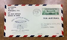 U.S. #C18 VF on Cover - 1933 50c Graf Zeppelin Oct 26 Chicago to Texas
