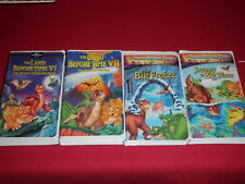 The Land Before Time VHS Videos Lot Of 4 Volumes 6, 7, 8, 9 (VI,VII, VIII, IX)