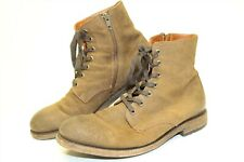 Frye Mens Size 9 D Bowery Lace Up Suede Zip Ankle Biker Boots 3487801CHT