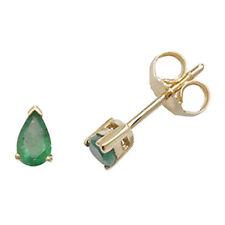 Pendientes de joyería de oro amarillo esmeralda