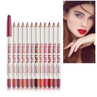 12Pcs/Set Lipstick Lip Liner Pencil Cosmetic Eyeliner Lipliner Women Makeup Tool