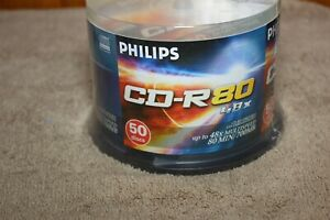 Philips CD-R 50 Pack 700 MB 80 Min 48x Brand New Factory Sealed Blank Discs