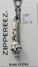 Biker Zipper Pull - Skull  -  G040803  --