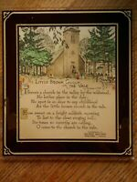 1920's ? Little Brown Church Vale Glass Poetry Advertising Lennox SD Hatchery