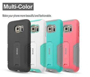 Samsung Galaxy S6 Case, Hybrid Armor Dual Layer Case with Kickstand