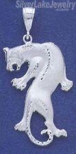 Sterling Silver Diamond-cut Big Puma Panther Charm Pendant