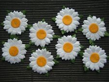 50 WHITE Paper SUNFLOWERS 25mm MPFF8D::: Scrapbooking Cardmaking Craft