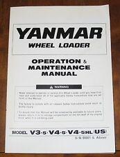 Yanmar Wheel Loader Operations & Maintenance Manual Book V3-5 V4-5 V4-5HL
