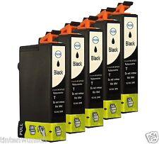 5 Cartucce stampante per Epson Stylus sx210 sx405 dx4400 dx8450 dx9400f BLACK Chip
