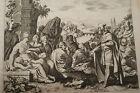 GRAVURE SUR CUIVRE BARUCH PROPHETE-BIBLE 1670 LEMAISTRE DE SACY (B146)