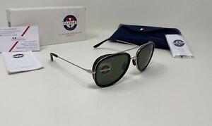 Vuarnet EDGE PILOT Black/Silver Sunglasses, Pure Grey GLASS 53mm 1614 0001 1121