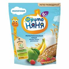 Multi-Grain Milk Baby Food Porridge w/ Apple, Banana and Strawberry, 6 months +