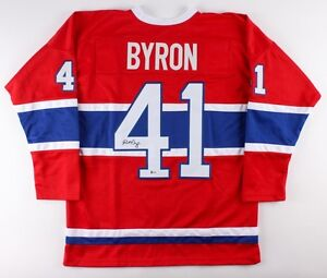 Paul Byron Signed Montreal Canadiens Jersey (Beckett COA) Veteran Left Wing