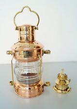 Nautical Brass Copper Anchor Oil Lamp Ship Hanging Lantern Boat Christmas Light