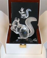 """SWAROVSKI NEW IN BOX CRYSTAL LARGE """" THE SQUIRREL """" WITH FROSTED TAIL & COA"""