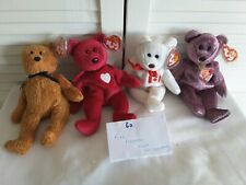Ty Beanie Babies Fuzz, Valentina, Maple, 2000 Signature Bears