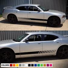 Decal Sticker Vinyl Side Stripe Kit for Dodge Charger 2006-2010 Rocker Racing