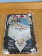 Big Bucilla Christmas Music 60 By 104 Inch Stamped Tablecloth Cross Stitch Kit *
